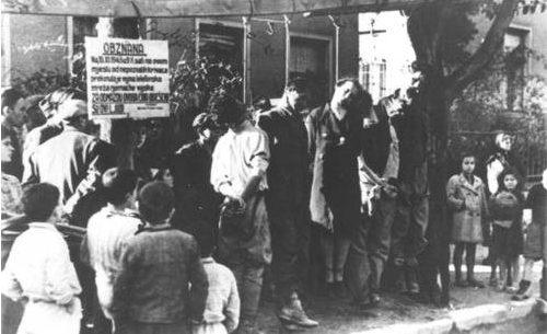 Ustaški zločin nad građanima Mostara, za odmazdu zbog prekinute telefonske linije njemačke vojske, novembar 1943.